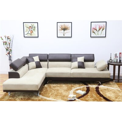 Damos Chaise Reversible Sectional Orientation: Left Hand Facing