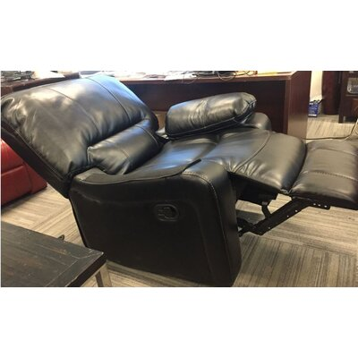 Layla Breathing Leather Recliner Upholstery Color: Black