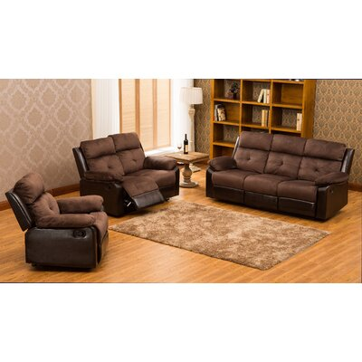 Red Barrel Studio RBRS8669 Tavistock 3 Piece Reclining Sofa Set