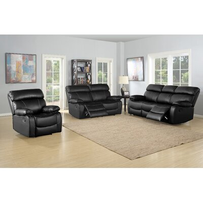 Red Barrel Studio RBRS8670 Birdsboro 3 Piece Reclining Living Room Sofa Set