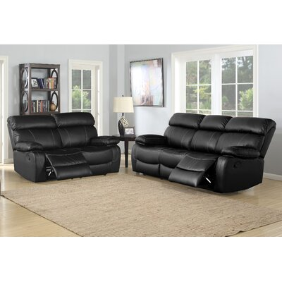 Birdsboro 2 Piece Reclining Living Room Sofa and Loveseat Set