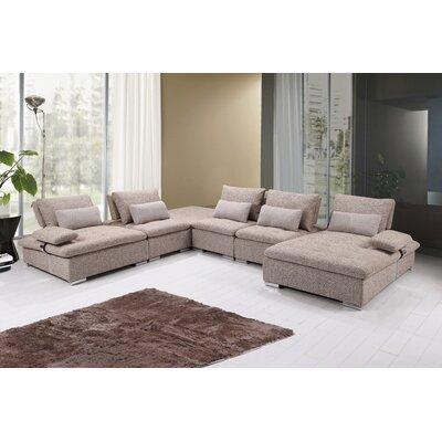 Uyen Modern Modular Sectional Upholstery: Beige