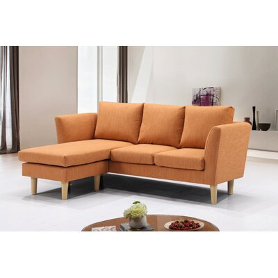 Dunagan Modern Compact Reversible Sectional