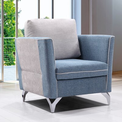 Kalypso Fabric Modern Living Room Armchair