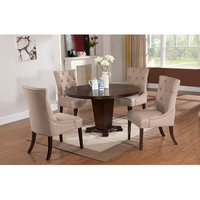 Cedar Creek 5 Piece Solid Wood Modern Dining Set
