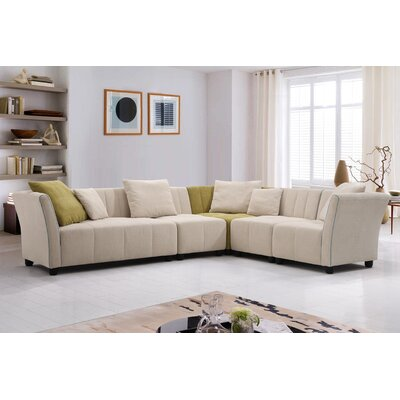 Hasbrouck Fabric Modern 5 Piece Living Room Set