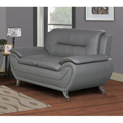 Polston Loveseat Upholstery: Gray