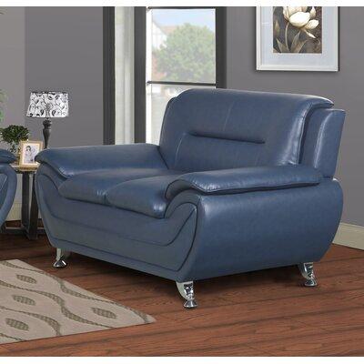 Polston Loveseat Upholstery: Blue