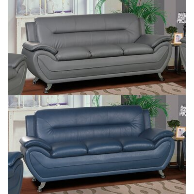 Lester Modern Living Room Sofa Upholstery: Blue