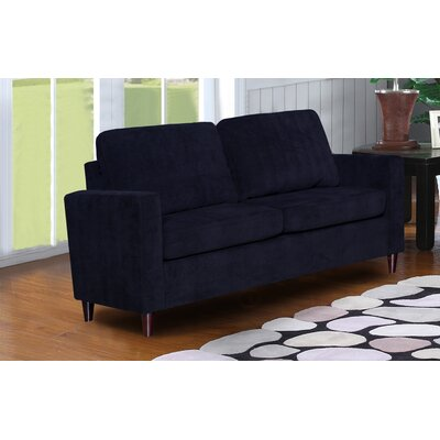 Anglin Raisin Fabric Modern Living Room Loveseat