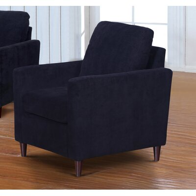 Anglin Raisin Fabric Modern Living Room Armchair