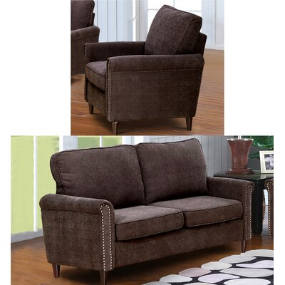 Hayton Fabric Modern 2 Piece Living Room Set