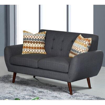 Diara 4 Piece Living Room Set Upholstery: Dark Gray