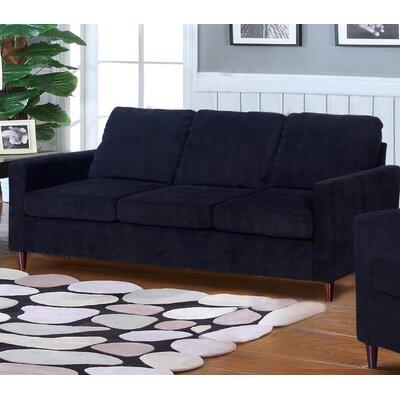 Anglin Raisin Fabric Modern Living Room Sofa