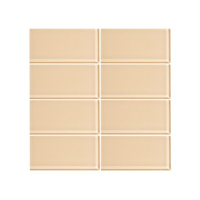 3 x 6 Glass Subway Tile in Creamsicle
