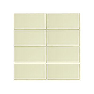 3 x 6 Glass Subway Tile in Lime Sorbet