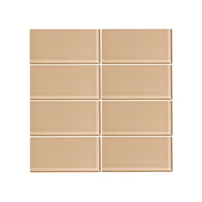 3 x 6 Glass Subway Tile in Saharan Atlas (Set of 6)