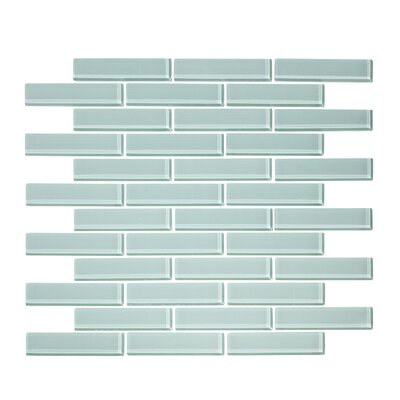 1 x 3 Glass Mosaic Tile in Seafoam Green