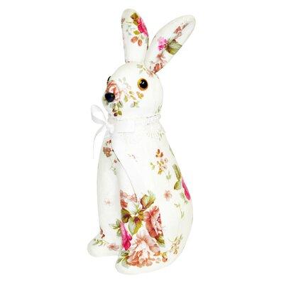 Decorative Floral Print Bunny Orientation: Upright