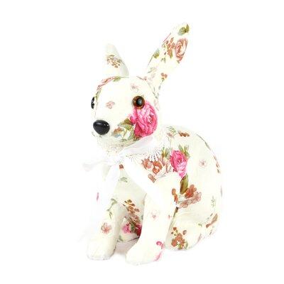 Decorative Floral Print Bunny Orientation: Sitting