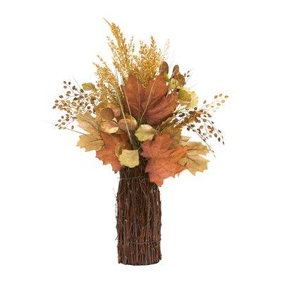 Rusts Twig Stack Floral Arrangement in Decorative Vase