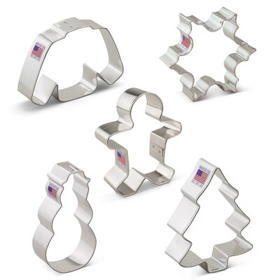 Christmas 5 Piece Cookie Cutter Set