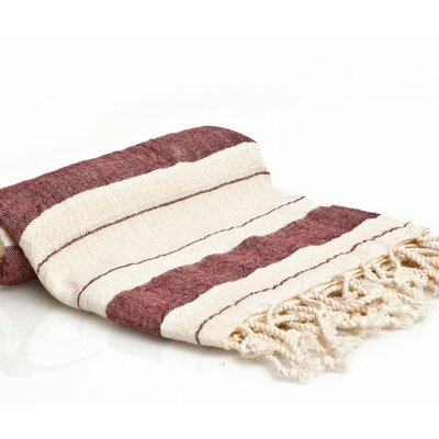 Turkish Style Peshtemal Turkish Bath Towel Color: Burgundy