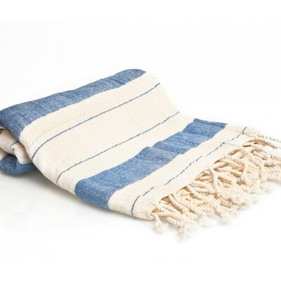 Turkish Style Peshtemal Turkish Bath Towel Color: Blue