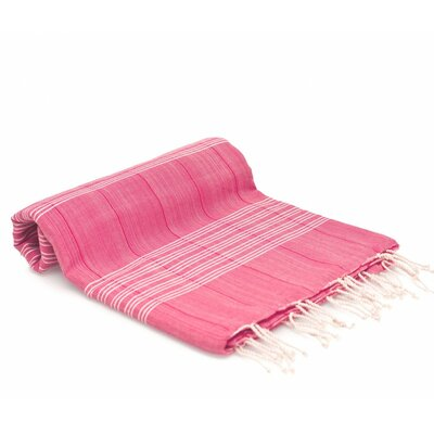 Turkish Fouta Yoga Peshtemal Bath Towel Color: Pink