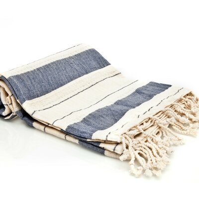 Sandburg Peshtemal Turkish Bath Towel Color: Navy