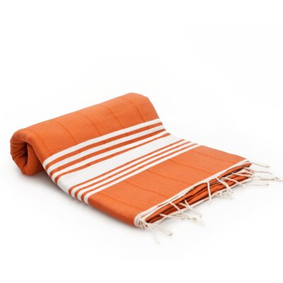 Turkish Cotton Bath Towel Color: Brick