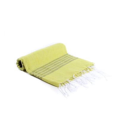 Turkish Fouta Yoga Peshtemal Bath Towel Color: Lime Green