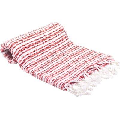 Turkish Bath Towel Color: Red