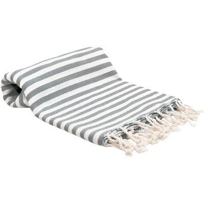 Peshtemal Fouta Bath Towel Color: Gray