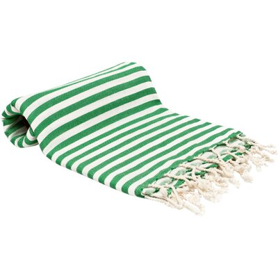 Peshtemal Fouta Bath Towel Color: Green