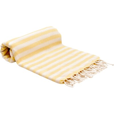 Peshtemal Fouta Bath Towel Color: Yellow