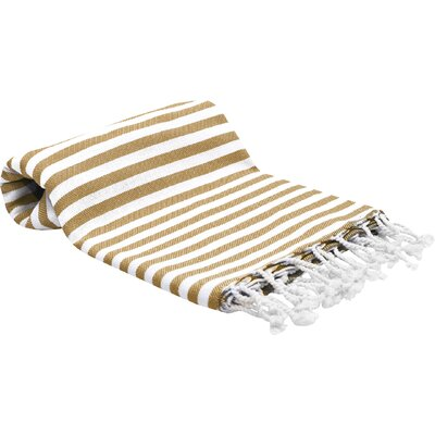 Peshtemal Fouta Bath Towel Color: Brown