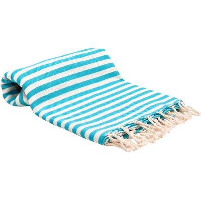 Peshtemal Fouta Bath Towel Color: Turquoise