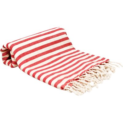 Peshtemal Fouta Bath Towel Color: Red