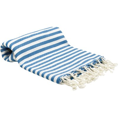 Peshtemal Fouta Bath Towel Color: Blue