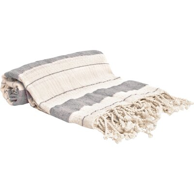 Turkish Style Peshtemal Turkish Bath Towel Color: Gray