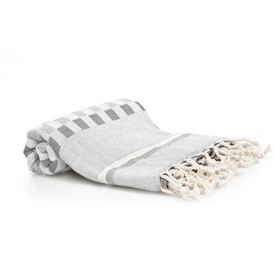 Hand-Woven Peshtemal Towel , Square weave Fouta Color: Gray
