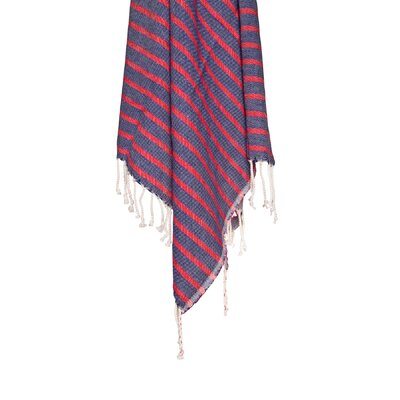 Nautical Peshtemal 100% Cotton Beach Towel