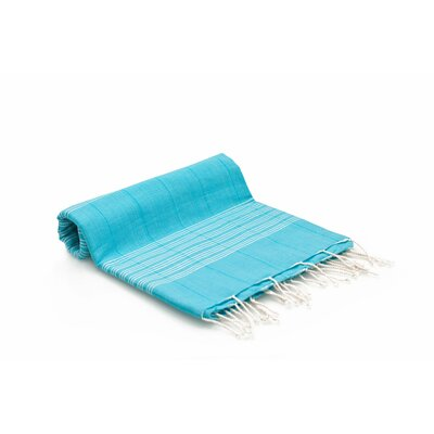 Turkish Fouta Yoga Peshtemal Bath Towel Color: Turquoise