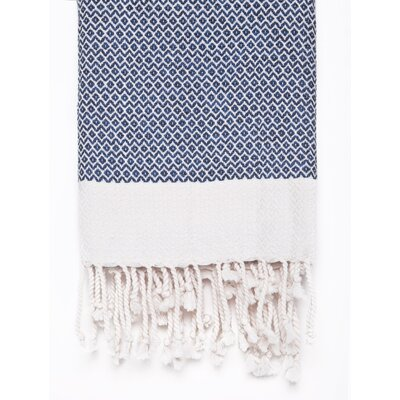 Peshtemal Fouta Cotton Bath Towel Color: Navy
