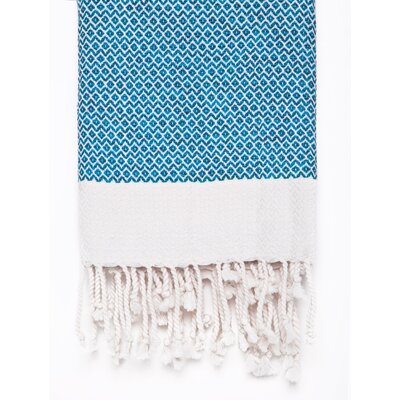 Peshtemal Fouta Cotton Bath Towel Color: Blue