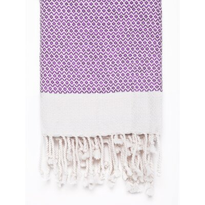 Peshtemal Fouta Cotton Bath Towel Color: Purple
