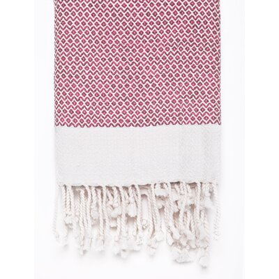 Peshtemal Fouta Cotton Bath Towel Color: Pink