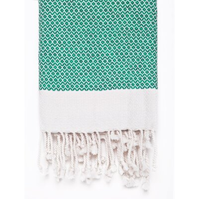 Peshtemal Fouta Cotton Bath Towel Color: Green