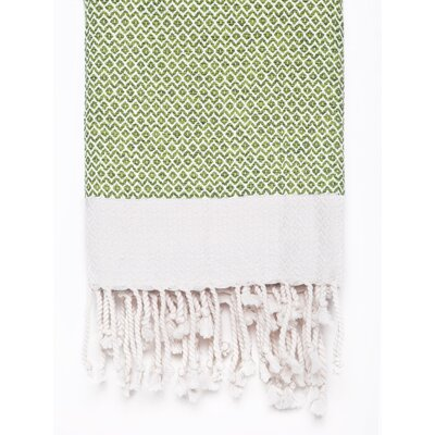Peshtemal Fouta Cotton Bath Towel Color: Lime Green